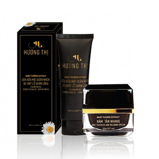 Bộ Dưỡng da mặt ngăn ngừa nám và tàn nhang Hương Thị